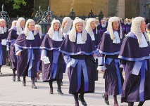 High court judges on parade