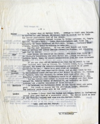 Page 2 of Dr Watkin's suggested itinerary