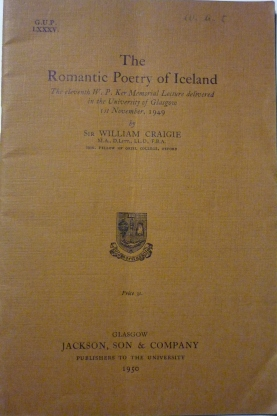 'The Romantic Poetry of Iceland' by Sir William Craigie