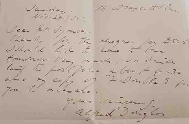 Bosie's Letter