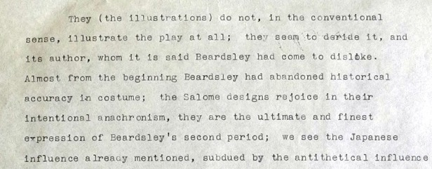 Symons's critique of Beardsley's illustrations