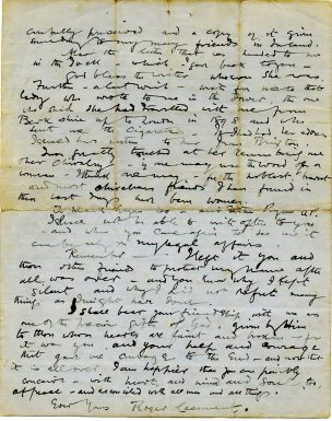 Page four of letter (UCDA P152/3)