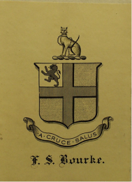 Bookplate of Dr Bourke