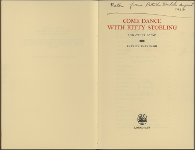 Title page of 'Come Dance with Kitty Stobling' (UCD Spec Coll KAV B 54)