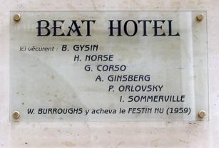 Plaque Beat Hotel,9 rue Gît-le-Cœur,Paris 6 (Creative Commons)