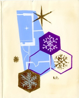 Christmas card from 1960 (UCDA LA52/41)