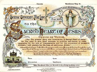 'Heroic Offering for Life' certificate for members of the PTAA (UCDA P145/3)