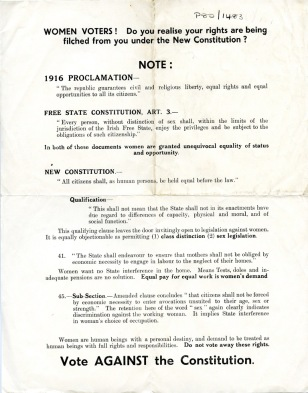 Flyer protesting changes in the 1937 Constitution (UCDA P80/1483)