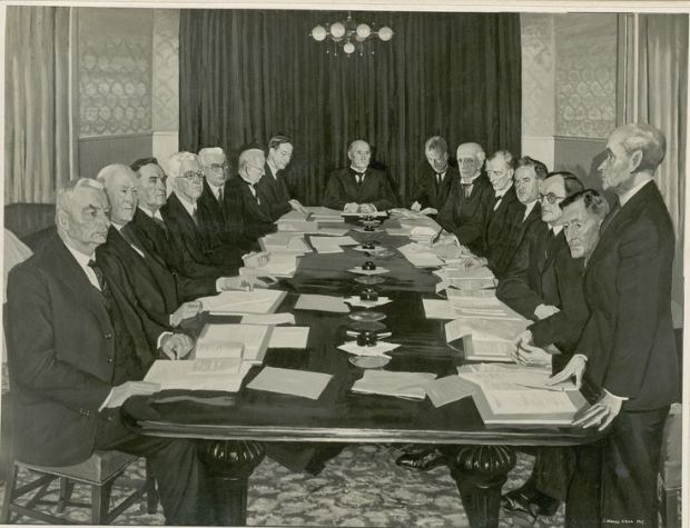 The first meeting of the Council of State