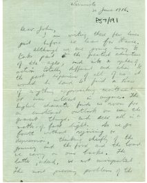 Letter from Michael shortly before departing for France, 20 June 1916 (UCDA P57/191)