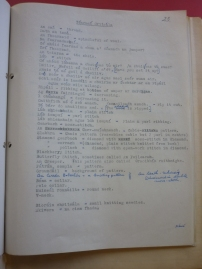 Field notes from Fearann an Choirce, Inishmore, Co. Galway, 1942 on knitting terms