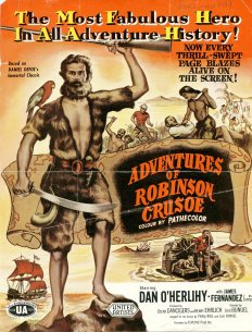 Advertisement for the 'Adventures of Robinson Crusoe' (UCDA P202/110)