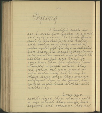 Notes on dying from the Schools' Collection at Dúchas.ie
