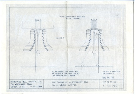 Plans for the restoration of the bell [NFC].