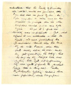 Letter written from La Vallerette, Leysin, Switzerland, page 2 (UCDA P126/45)