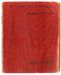 Cover of Melberg's phonetic transcript notebook.