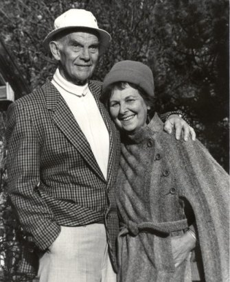 Håkon Melberg and his wife later on in life.