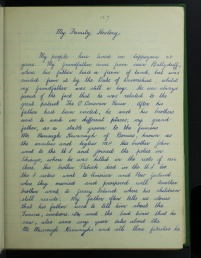 Alice Flanagan from Ceapach Chuinn, Co. Waterford on her family history, 1937. From the School's Collection