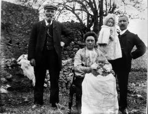 A farmer from Athea, Co. Limerick, and his family. Photograph by William Danaher, c.1908