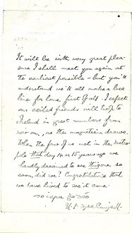 Page two of Reading Gaol letter (UCDA P134/13/02)