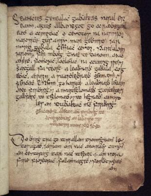 'Book of Genealogies' manuscript 14 page 27