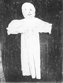 An effigy of a Brídeoga from Kerry in 1974