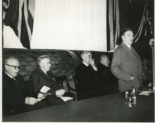 Unidentified public meeting during John A. Costello's September 1948 visit to Canada