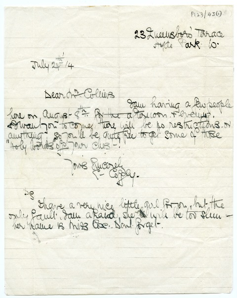 Letter to Michael Collins