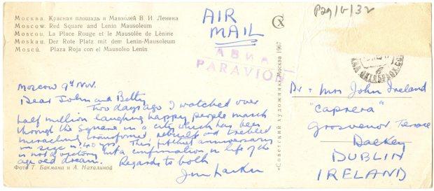Postcard from Jim Larkin Jnr