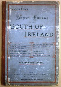 Front cover of 'Tourists' Handbook to the South of Ireland' by Francis Guy (c.1890).