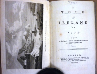 Title page of 'A Tour in Ireland in 1775' by Richard Twiss.