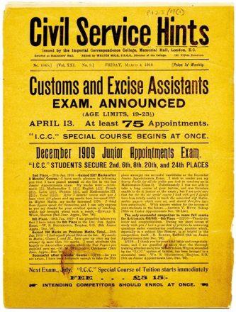 Collins' copy of 'Civil Service Hints' (UCDA P123/19)