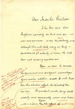 Hand written essay entitled 'Our Insular Position', with corrections! (UCDA P123/6/18r)