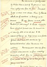 Third page of hand written essay. (UCDA P123/6/19r)