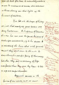 Page two of hand written essay. (UCDA P123/6/8v)