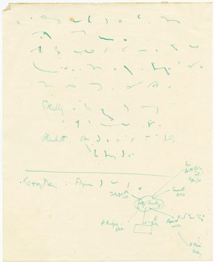 Mulcahy's own type of shorthand (UCDA P7/C/99)