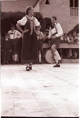 Traditional dance, Austria 1939. Photographer Tomás Ó Muircheartaigh.