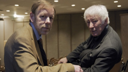 Denis O'Driscoll and Seamus Heaney. Courtesy of the Irish Times.