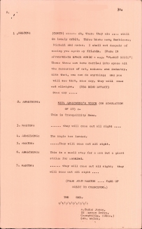Script from the RTE radio drama 'From the Earth to the Moon..'. UCDA/P261/4190.
