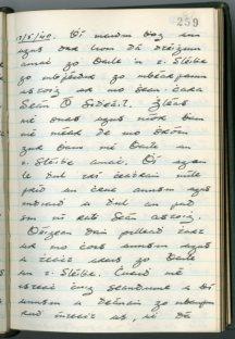 Seán Ó hEochaidh diary (NFC 727/259)