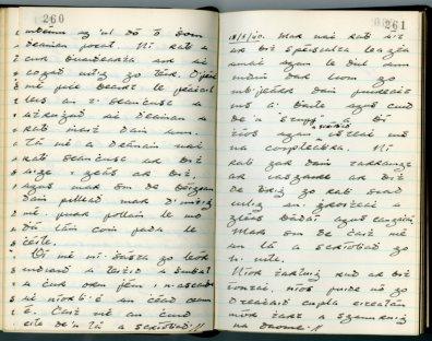 Seán Ó hEochaidh diary (NFC 727/260-261)