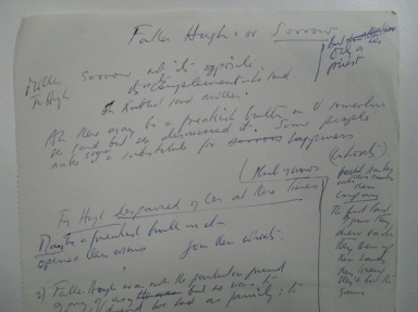 Lavin's notes on 'Father Hugh'.