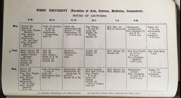 UCD Calendar 1943-1944