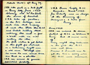 IRA attack at Rampart, near Dungloe rilaway station in Derry 1919-1920 (UCDA P226 p3)